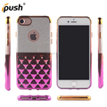2017 TPU case with pvc back cover for iphone7 soft phone case tpu diamond case for iphone7 case accessories