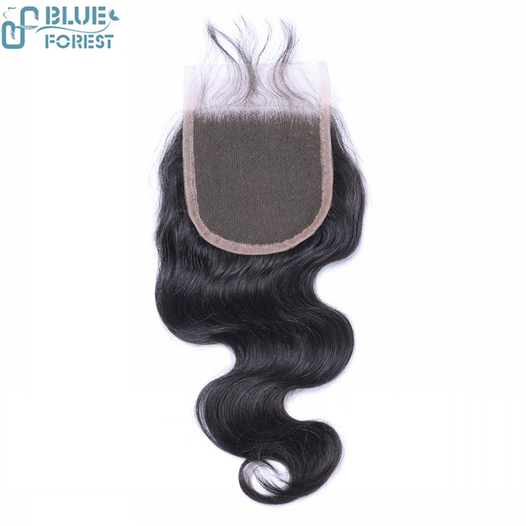 "Middle part 8inch-20inch Peruvian Virgin Hair Swiss lace 4""*4"" Top Closure Hair Piece Lace Closure"