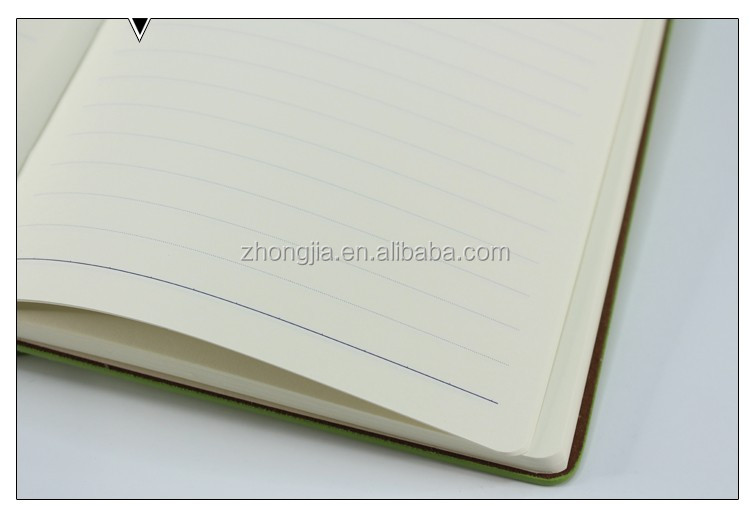 Good price leather pu plain notebook gift set with pen