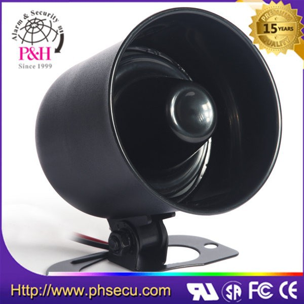 Black electric buzzer horn