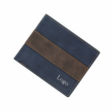 Classic leisure PU leather contrast color wallet for <strong>men</strong>