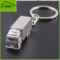 Zinc alloy plastic pvc silicone custom shaped gift for promotion metal truck key chain