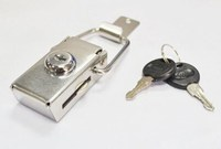 J606 Gray color electrical stainless steel cabinet clasp case hasp lock with plastic handle key