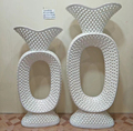 New Design And Wholesale Large Crystal Glitter Sparkle Polystone planting Vase Stand