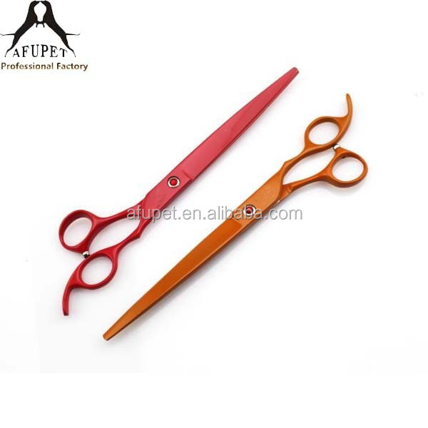 multi colors 8 inch right hand dog scissors for grooming