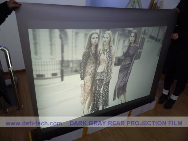 rear screen film semitransparent projection screen fabric