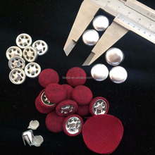 15mm Metal Fabric covered Baseball cap top button