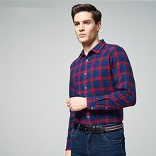 Hot sale men's lined thick warm flannel shirt