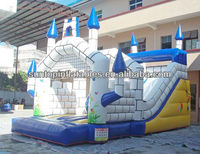 most exciting wet and dry inflatable larger slide with best price and high quality