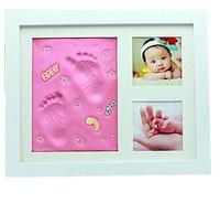 Baby souvenir - baby square photo frame with inkpad / photo frame with writing