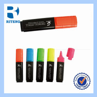 Non-toxic pigmented ink multi colored highlighter pen