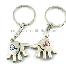 custom logo couple key chain pendant charm hand shape hand in hand word custon logo valentine day gift promotion gift key ring