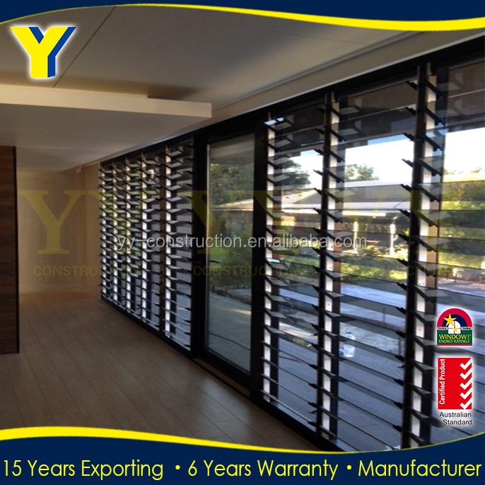 Yy Aluminum Glass Door And Window As2047 German Window Shutters Electric Window Shutters