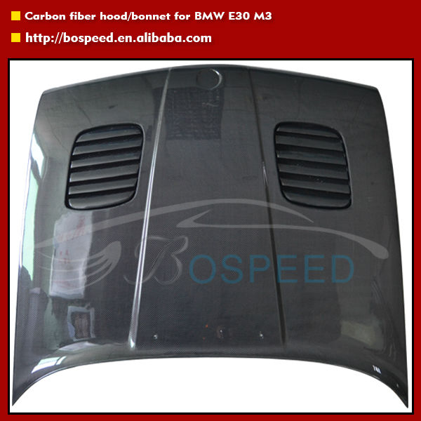 M3 Style Car Bonnet Carbon Fiber Hood For BMW E30