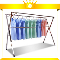 X Shape Free Standing Foldable Metal Stainless Steel Clothes Drying Rack
