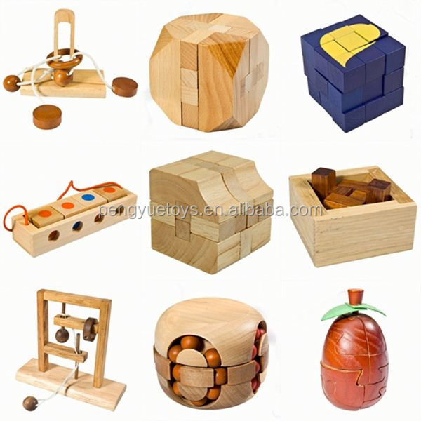 Intelligence 2 colors 3D apple puzzle funny cube iq game iq toy Snake Cubic Blocks wooden brain teaser puzzle for adult