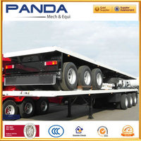 3 axles container platform semi trailers manufacturers in china