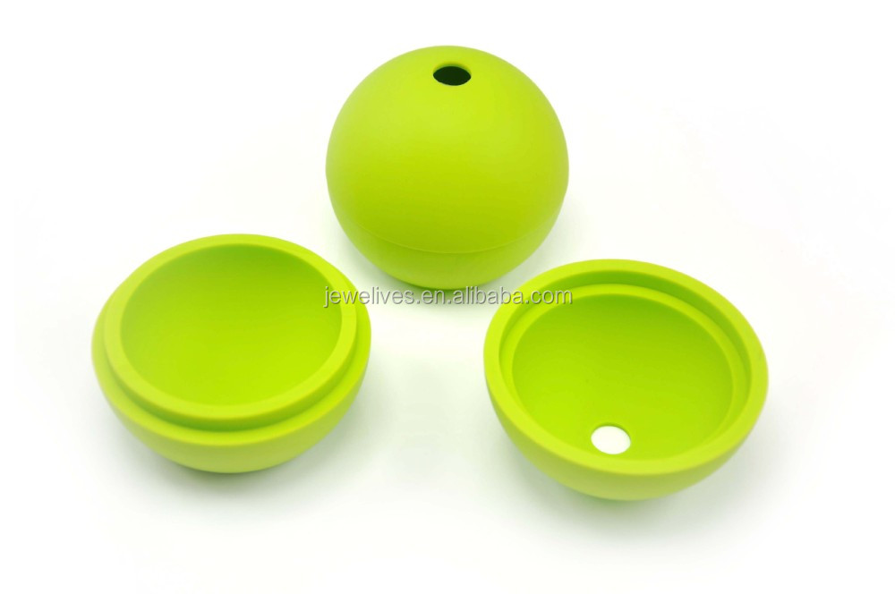 silicone ice ball tray three connect ball