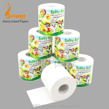 Customizable Virgin Wood Pulp Toilet Paper Print Tissue Roll Parent Rolls