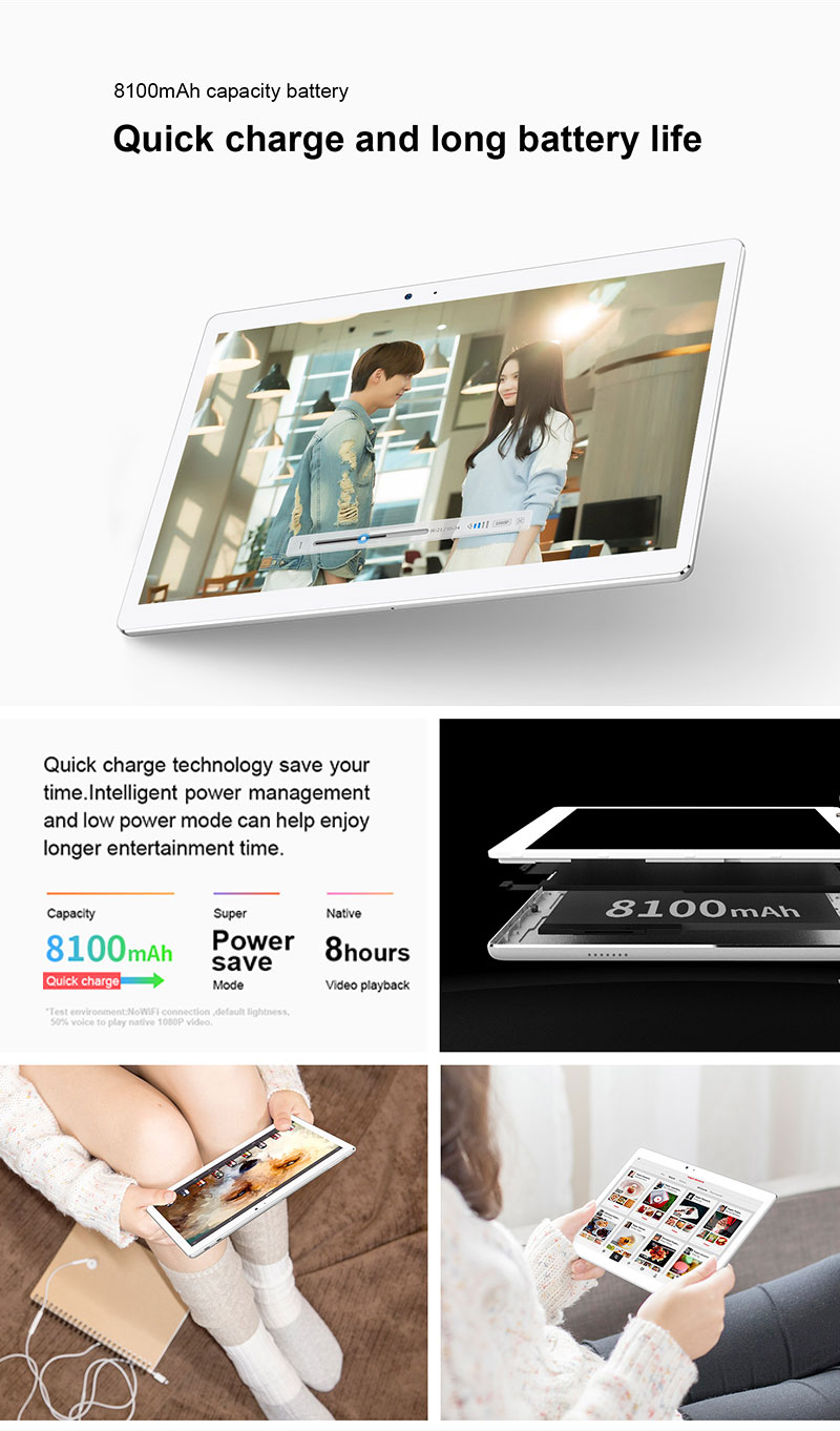 2560*1600IPS Screen  MTK8176 Hexa Core 4+64GB Android 10.1 inch Children Tablet PC