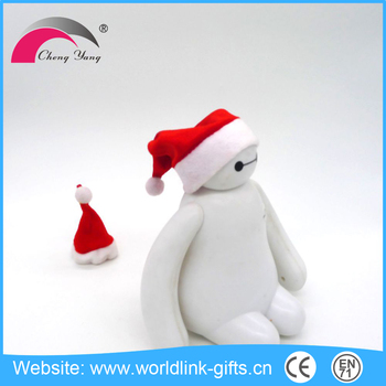 stuffed plush christmas gifts fancy christmas santa hat