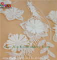 high quality lace fabric embroidery lace with beads and flowers
