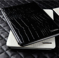 new crocodile fur leather case cover for iPad mini leather case