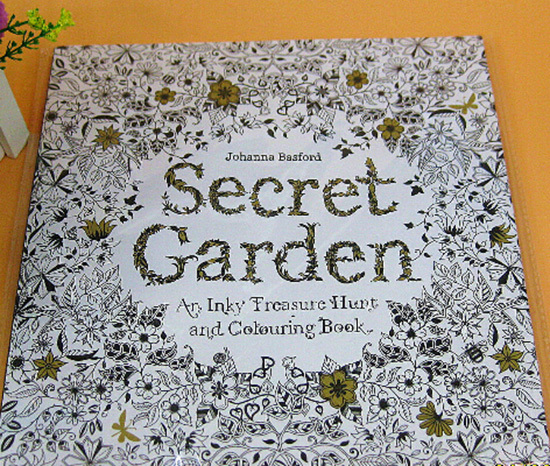 English version and Korean version near original edition 520g/pcs printing book for Secret garden and Enchanted forest