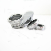 Mobile phone camera lens fish eye 180 degree magic mobile len & Blue devil Eye clip Lens