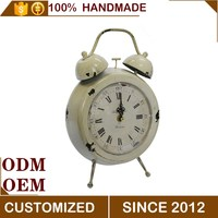 European antique white table decorative alarm clock