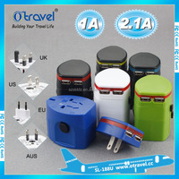 Universal World International Travel Worldwide Adapter Converter with Dual USB PORT 2.1A Charger