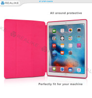 Fully protective flip leather stand tablet case for ipad pro
