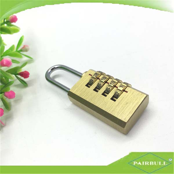 100% full brass 4 digit combination lock safe for lockers