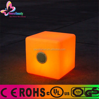 2015 professional stage built in amplifier outdoor waterproof wireless music mini cube bluetooth speaker with led light