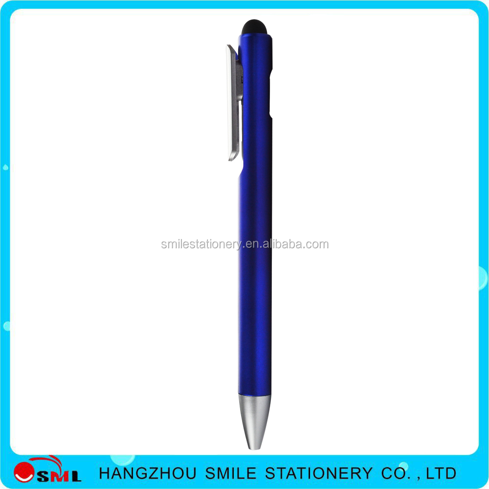 Promotional custom logo stylus touch pen with rubber tip screen pen