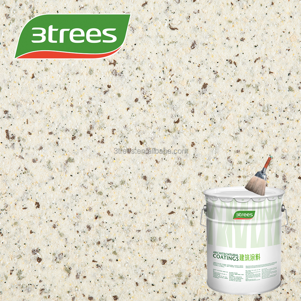 3TREES acrylic resin sand rock-chip textured exterior stone coating