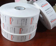 Manufactory custom self adhesive nylon taffeta printing product label, Label roll printing