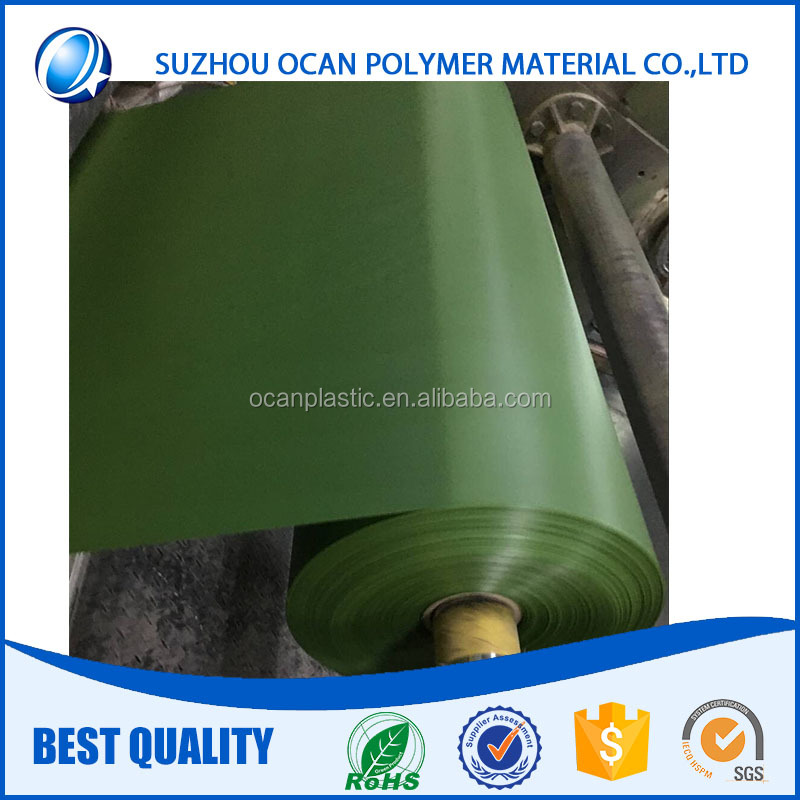 Rigid PVC Sheet Green Calendered Plastic PVC Roll