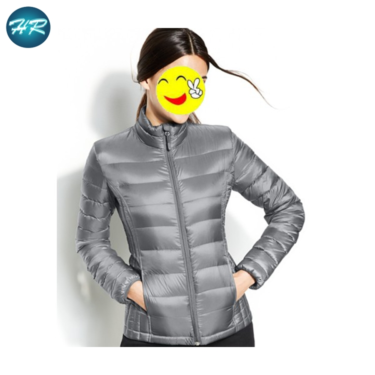 2017 Fashion Light Weight Down Jacket Woman Stand Collar Packable Ultralight Down Winter women foldable down jacket