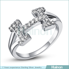 H platinum rings wholesale words women finger ring
