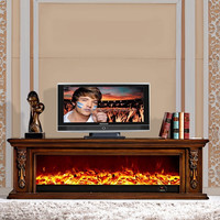 High quality and large fireplace/Carved wood fireplace TV cabinet/Luxury Home Decor