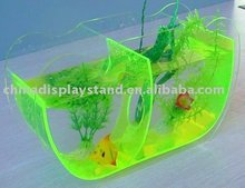 fashion custom lucite green fish tank stand