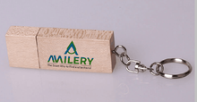 4GB wooden USB flash drive with logo