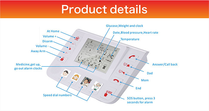 The most popular wireless panic button emergency calling system for children/senior people T3