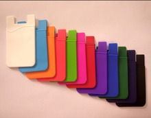 High quality cheap adhesive food grade silicone cell phone card holder