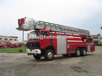 North Benz aerial platform fire truck