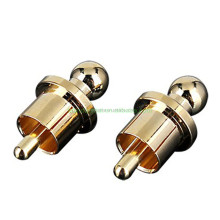 OEM jack plug H1181 Noise Stopper Gold Plated Copper Cap Dust Protector RCA Plug Caps