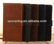 Wallet Leather Case pouch for Sony Xperia Z2 L50W D6502