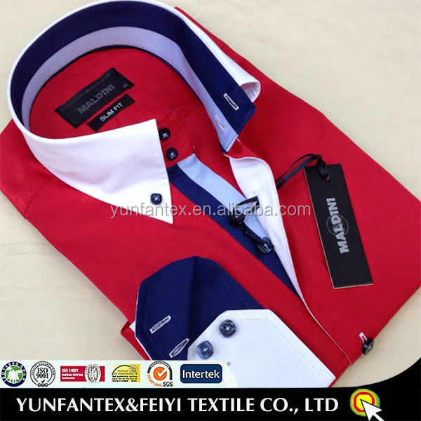 latest cotton button down particular collar shirt designs for men 2015