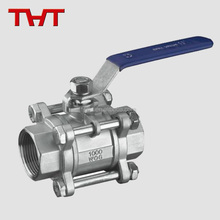 small caliber cf8m screw end aluminum three-way ball valve